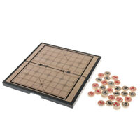 Portable Chinese Chess Set Magnetic Board Game Xiangqi Travel Game 20cm