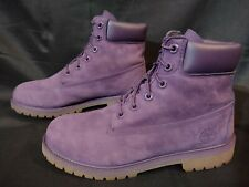 """Timberland Premium A14T3 Purple Limited Women Girls Youth 7Y Waterproof 6"""" Boots"""