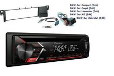 Pioneer deh-s100ub MP3 AUX CD USB FLAC TUNER RDS Set d'installation pour BMW