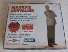 2 CD ALBUM MAURICE CHEVALIER INTEGRAL DE SON DERNIER CONCERT 39 TITRES NEUF