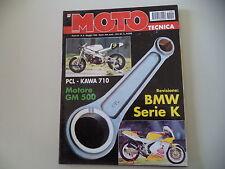 MOTO TECNICA 5/1995 KAWASAKI ZX-6R/PCL 710/GM 500/SUZUKI LUMIA/COMET 175/BMW K