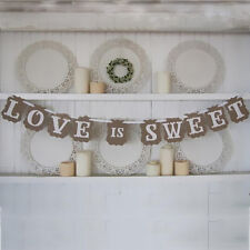 LOVE is SWEET Wedding Banner Party Decoration tool Photo Prop Engagement