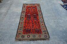 F671 Handmade Afghan Tribal Beluch Stunning Decor Wool Rug / 2'7 x 5'8 Feet