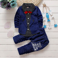 Infant Kids Boys Clothing Cotton Outfits Christmas Party Dress Gentlemen Suits