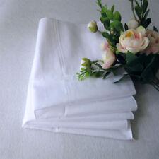 12Pcs Men Pocket Plain White Cotton Handkerchiefs Hankies Sweat Face Towel Hot