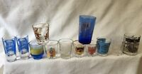 Vintage Souvenir Shot Glasses Romana Germany Jamaica Puerto Rico Alcatraz Glass