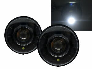 H1/H2 2003-2009 Truck LED Halo Projector Headlight Black for HUMMER LHD