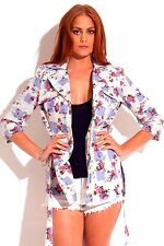 Double-breasted cotton floral checkerboard jacket by Naranka USA size L