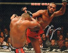 JON BONES JONES SIGNED AUTO'D 11X14 PHOTO BAS COA UFC 197 182 165 214 CHAMPION A