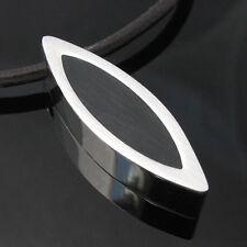 Edelstahl Design Anhänger Oval #1350117