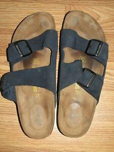 BIRKENSTOCK Arizona Sandals EU 42 Mens 9 Womens 11 Unisex Dark Blue Slide