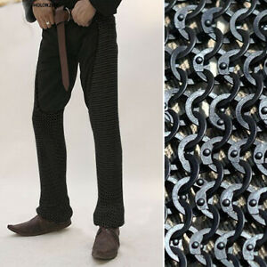 Flat Riveted With Flat Washer Chain mail 9 mm leggings Mild Steel Black