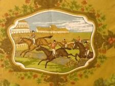*VINTAGE CURTAINS FOX HUNTING SCENE/HOUNDS/BRITISH COUNTRY SPORT 252CM X 149CM*