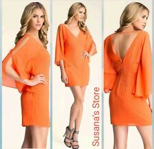 NWT BEBE EMBELLISHED FLUTTER SLEEVE DRESS SIZE XS Turn heads in, gorgeous!!