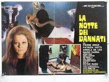 LA NOTTE DEI DANNATI horror Rush BRICE VIOTTI DE LEO CARRA fotobusta 1971