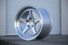 18x8.5/18x9.5 AodHan DS05 5x114.3 +35/30 Silver Rims (set of 4)