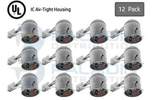 """6"""" Inch Remodel Recessed Can Light Housing - IC Air Tight LED (12 Pack)"""