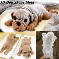 3D Dog Shape Silicone Mold Mousse Cake Chocolate Jelly Baking Mould Cute Decor