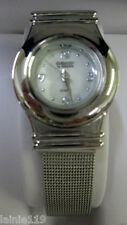 MZ Berger Ladies Watch, Sleek, Silver Toned, MESH BUCKLE BAND, New in Gift Box