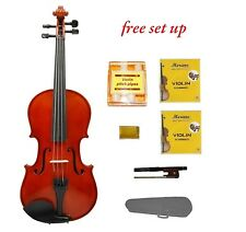 New 1/32 Size Acoustic Violin,Case,Bow+Bonus 2 Extra Sets of Strings,Rosin,Tuner