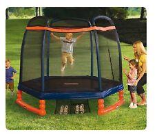 trampolino tappeto elastico interno esterno età 3 10 anni con rete sicurezza