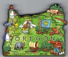 OREGON  OR  ARTWOOD STATE MAP MAGNET  SALEM MEDFORD EUGENE PORTLAND  MT HOOD