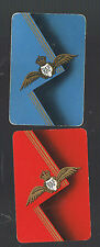 Playing Swap Cards  2  VINTAGE  AUSTRALIAN  R A F  BADGE  WINGS   W272 PAIR