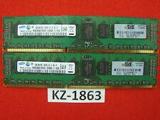 Samsung 4GB 2x2G DDR3 PC3-10600R 1333MHz ECC Reg RAM 5673FH0-CH9Q5 #kZ-1863