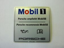 Für PORSCHE 911 997 993 BOXSTER CAYMAN MOBIL OEL SERVICE  AUFKLEBER ORIGINAL NEU