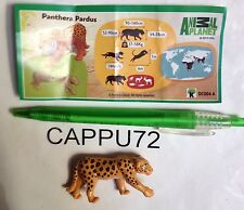 ANIMAL PLANET-LEOPARDO  (Panthera Pardus)+ CARTINA DC004 A  kinder sorpresa