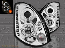 FIT FOR 03-05 INFINTI G35 CCFL HALO HID TYPE PROJECTOR LED HEADLIGHTS 2DR CHROME