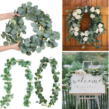Garland Wedding Party Wreath  Eucalyptus Vine Artificial  Leaves Rattan Foliage