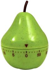 Pear Mechanical Kitchen Timer Game Count Down Counter Alarm Cooking Tool 60 Min