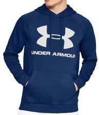Under Armour Rival Fleece Logo Mens Training Hoody Blue Stylish Sports Hoodie UA
