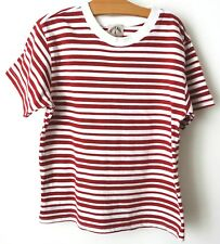 T-shirt rayé rouge & blanc garçon 8 ans PETIT BOY made in France 100% coton!