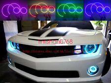 LED Angel Eyes Halo Rings Demon Devil Headlight RGB For Chevy Camaro 2010-2015