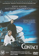 DVD CONTACT Jodie Foster Matthew McConaughey  A message from deep space