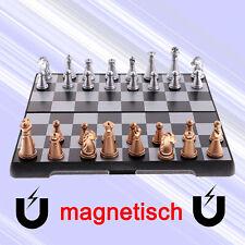 Schachspiel Schach + Magnetisch + Schachbrett Mini Chess Board Set Reiseschach