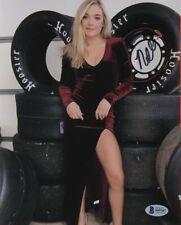 Natalie Decker  Hand Signed Racing  8 x 10 Photo Beckett