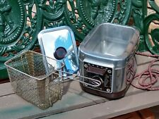 Vtg Nesco Fryryte N140-A Automatic Electric Deep Fryer pre-owned, Nice & Working