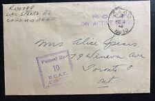 1945 Goose Bay Newfoundland RCAF CAPO 10 Censored Cover To Toronto Canada