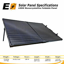 100W Foldable Suitcase Solar Panel Great for Off-the-Grid, RV, Boat