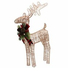 Rose Gold Reindeer Christmas Decoration Sizes Medium and Large