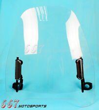 Universal Transparent Clear Motorcycle Windshield Wind Screen For Suzuki Honda