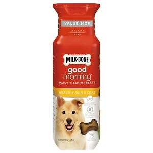 Milk-Bone Good Morning Daily Vitamin Dog Treats, Healthy Skin and Coat - 15 oz