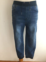 Lucky Brand Drawstring Capri Jeggings Pants Blue 'Denim' Size S