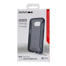 Tech 21 Samsung Galaxy S6 Evo táctico flexshock cubierta caso-Negro/Ahumado
