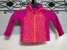 The North Face Jacket Baby Girl 2T Pink Long Sleeve Logo Full Zip