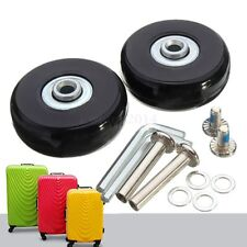 2 Set OD 50mm Luggage Suitcase Replacement Wheels Repair Kit Axles Deluxe New