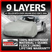 9 Layer Car Cover Indoor Outdoor Waterproof Breathable Layers Fleece Lining 6395